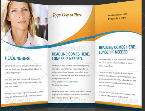 Brochure examples clip free library brochure templates | Tri-Fold Corporate Brochure Templates ... clip free library