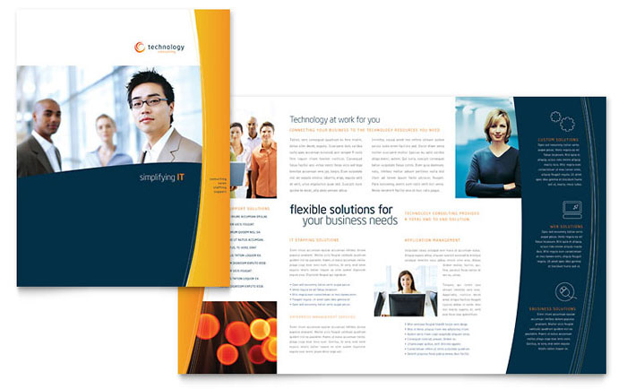 Brochure examples vector freeuse Free Brochure Templates | Sample Brochures & Examples vector freeuse