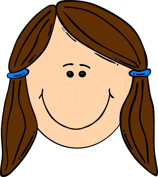 Face toward sun clipart graphic free cartoon drawing of little big eyed girl with dark hair - Google ... graphic free