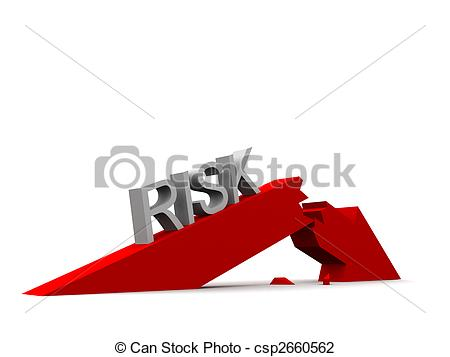 Broken arrow clip art clip freeuse stock Clip Art of risk - 3d rendered illustration of a broken arrow and ... clip freeuse stock