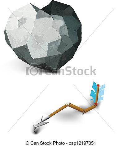 Clipart vector of stone. Broken arrow clip art