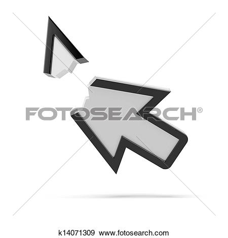 Broken arrow clip art. Stock illustration of error