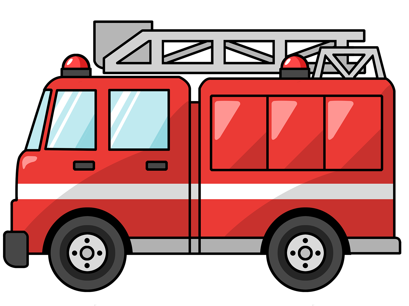 Broken car window clipart vector black and white stock fire truck clipart - Google Search | Education | Pinterest | Fire ... vector black and white stock