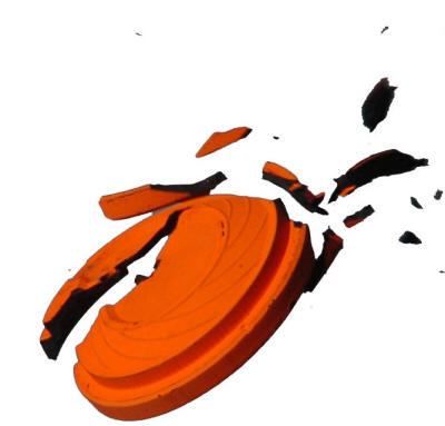 Broken Clay Target Clipart clipart free download