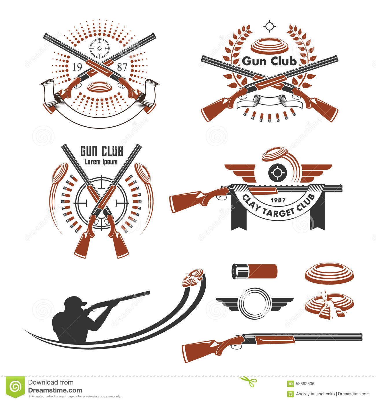 Clay Pigeon Shooting Target - Broken, Isolated Over White Royalty ... vector freeuse download