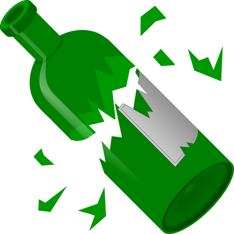 Broken clipart image freeuse library Free Clipart: Broken Bottle | qubodup image freeuse library