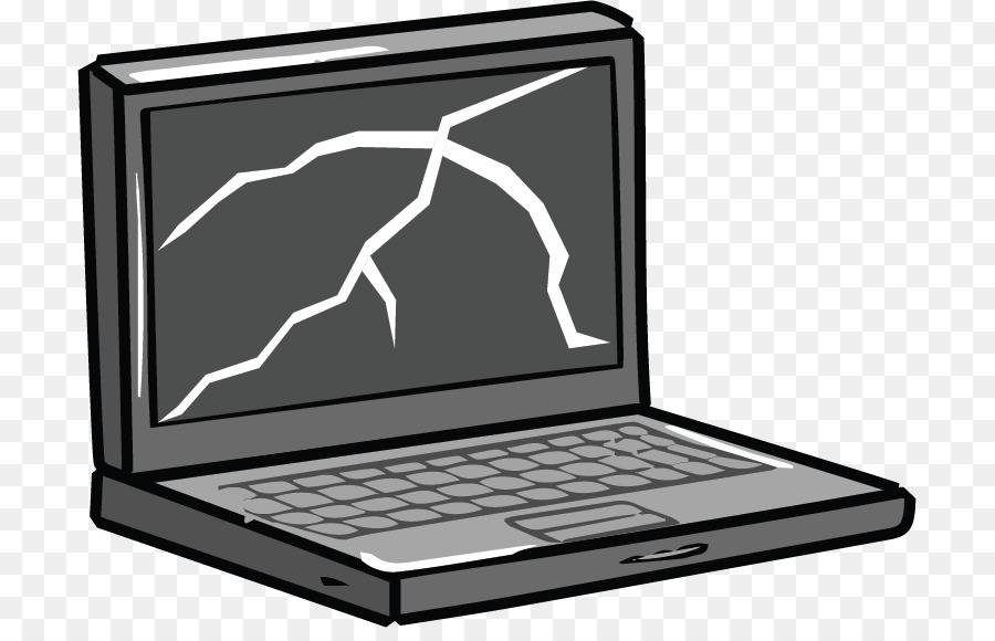 Broken computer clipart free black and white library Download Free png Laptop MacBook Pro Computer repair technician Clip ... black and white library