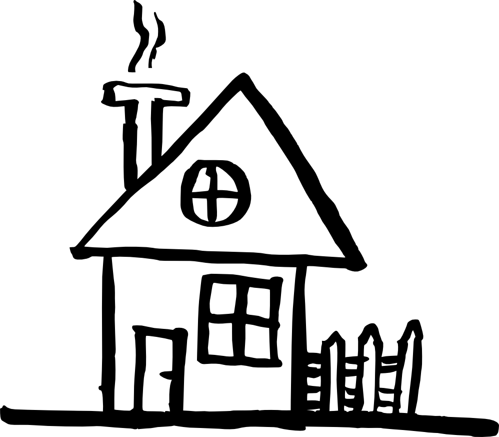 Clipart house sketch clip House Drawing. House Drawing - Activavida.co clip