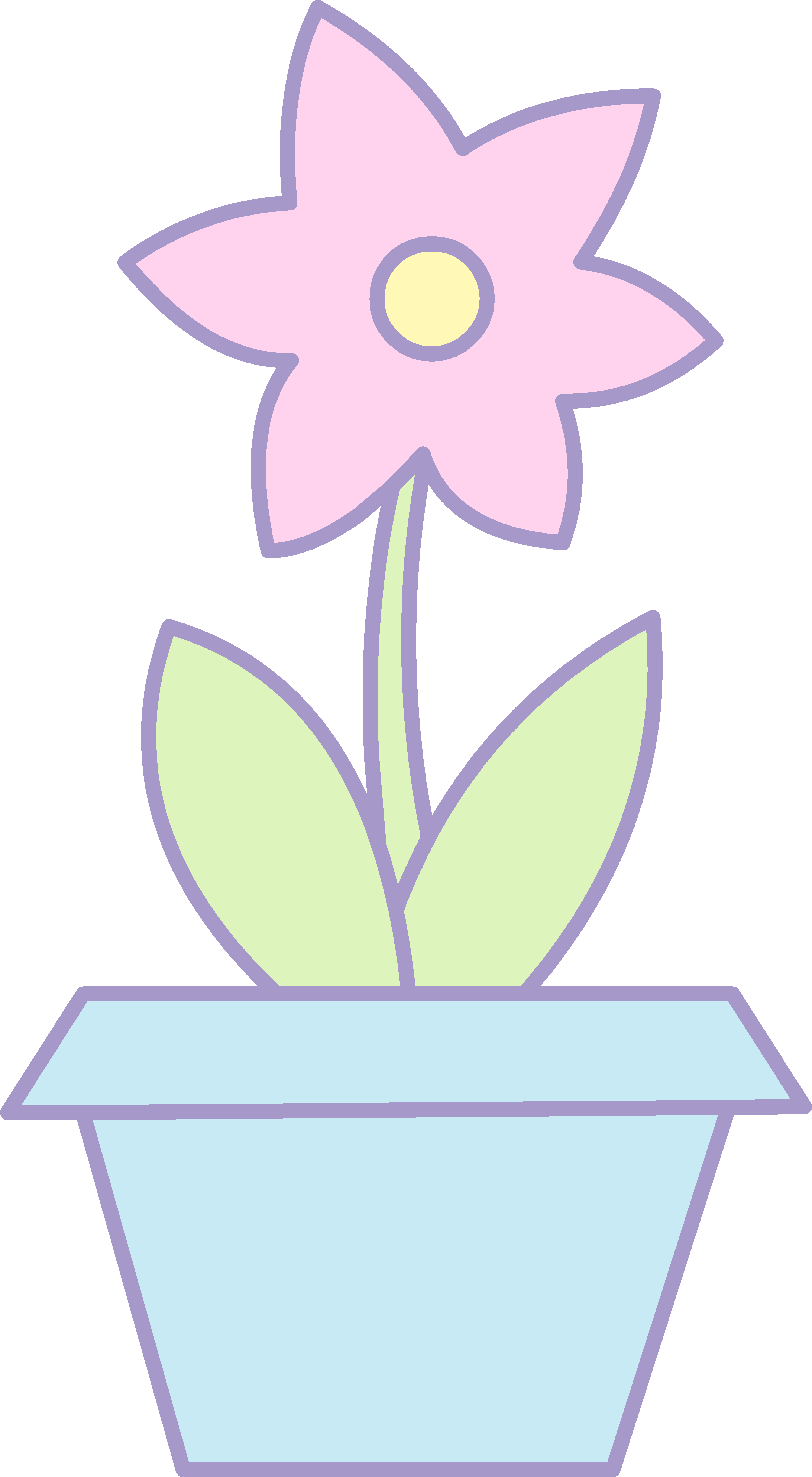 Colorful flower pot clipart image transparent 28+ Collection of Pink Flower Pot Clipart | High quality, free ... image transparent
