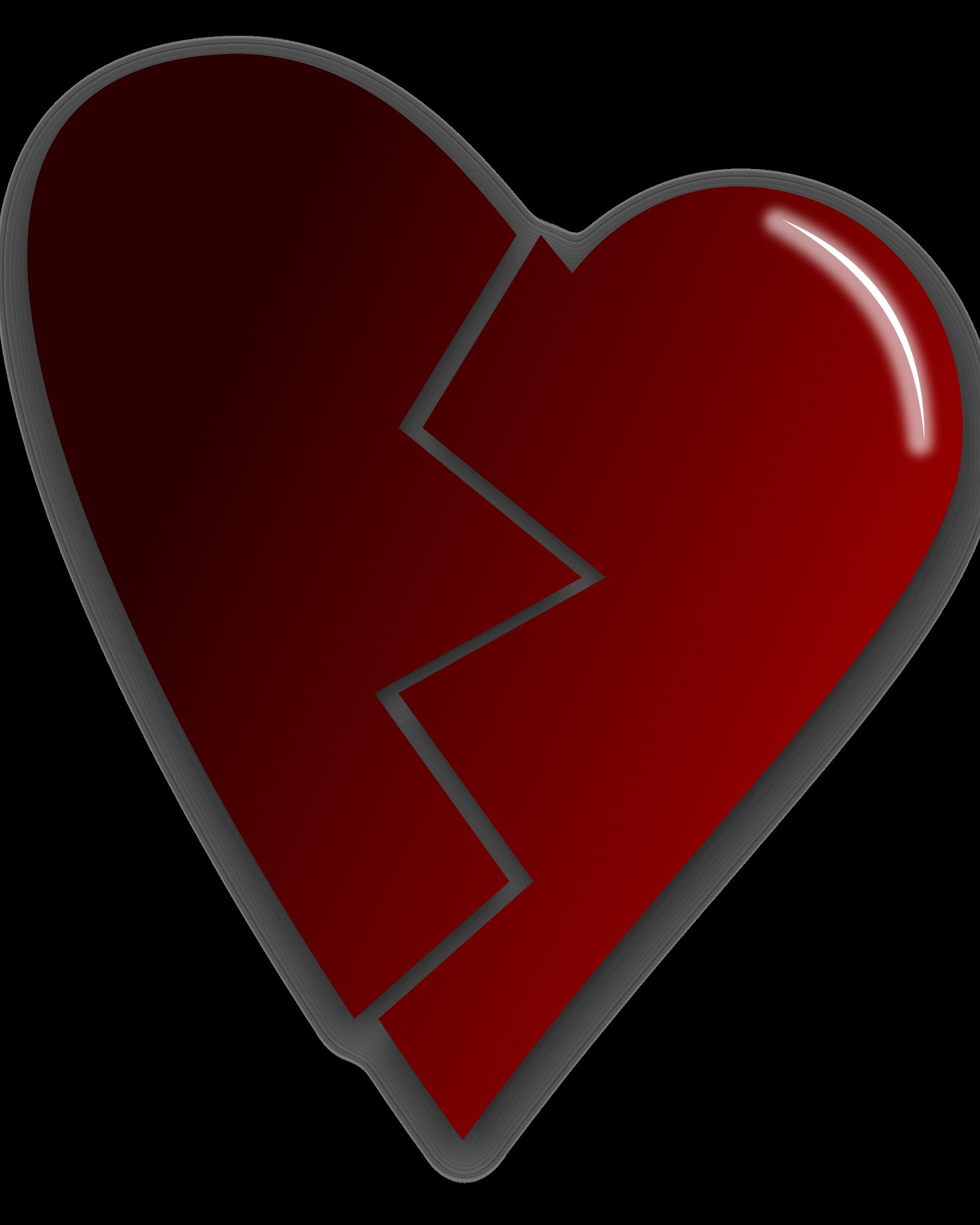 Broken heart clipart graphic free download Clipart - Broken heart graphic free download