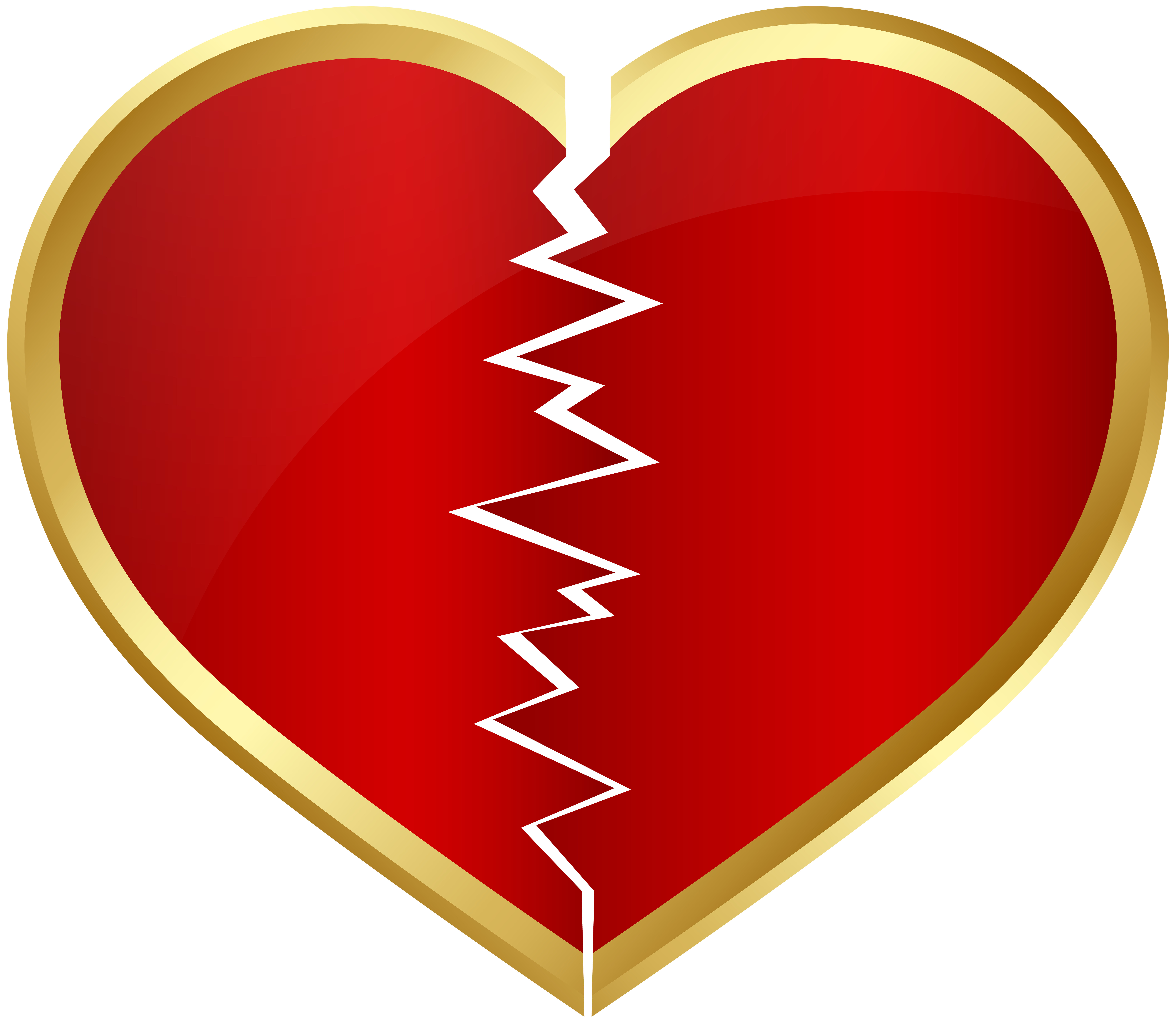 Heart broken clipart jpg library stock Broken Heart Transparent Clip Art Image | Gallery Yopriceville ... jpg library stock