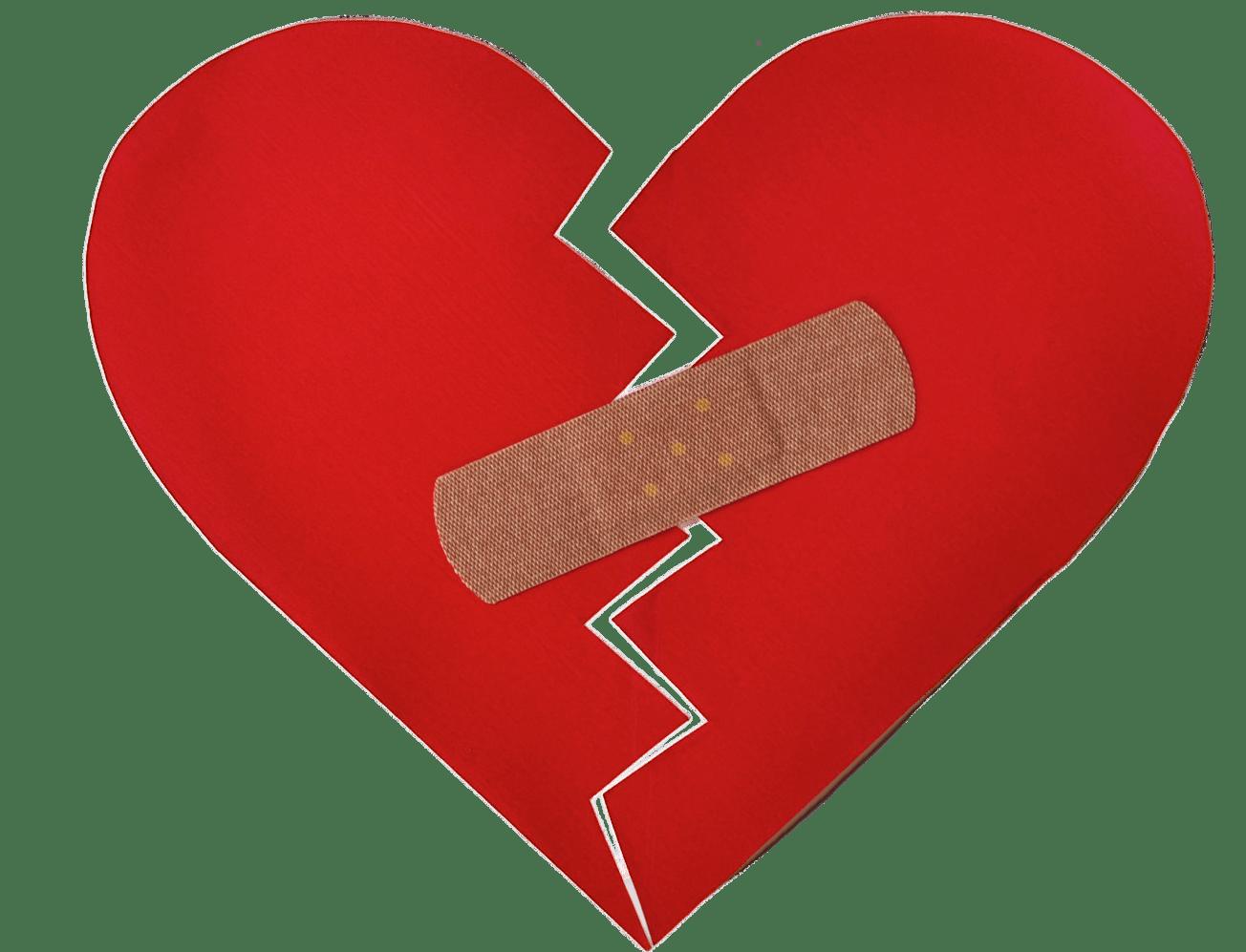 Broken heart clipart transparent graphic transparent library Broken Heart With Bandaid transparent PNG - StickPNG graphic transparent library