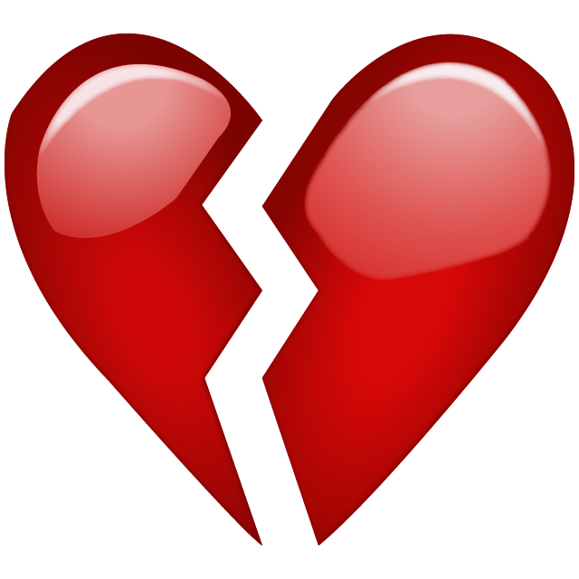 Heart broken clipart png free library Download Broken Red Heart Emoji Icon | Emoji Island png free library