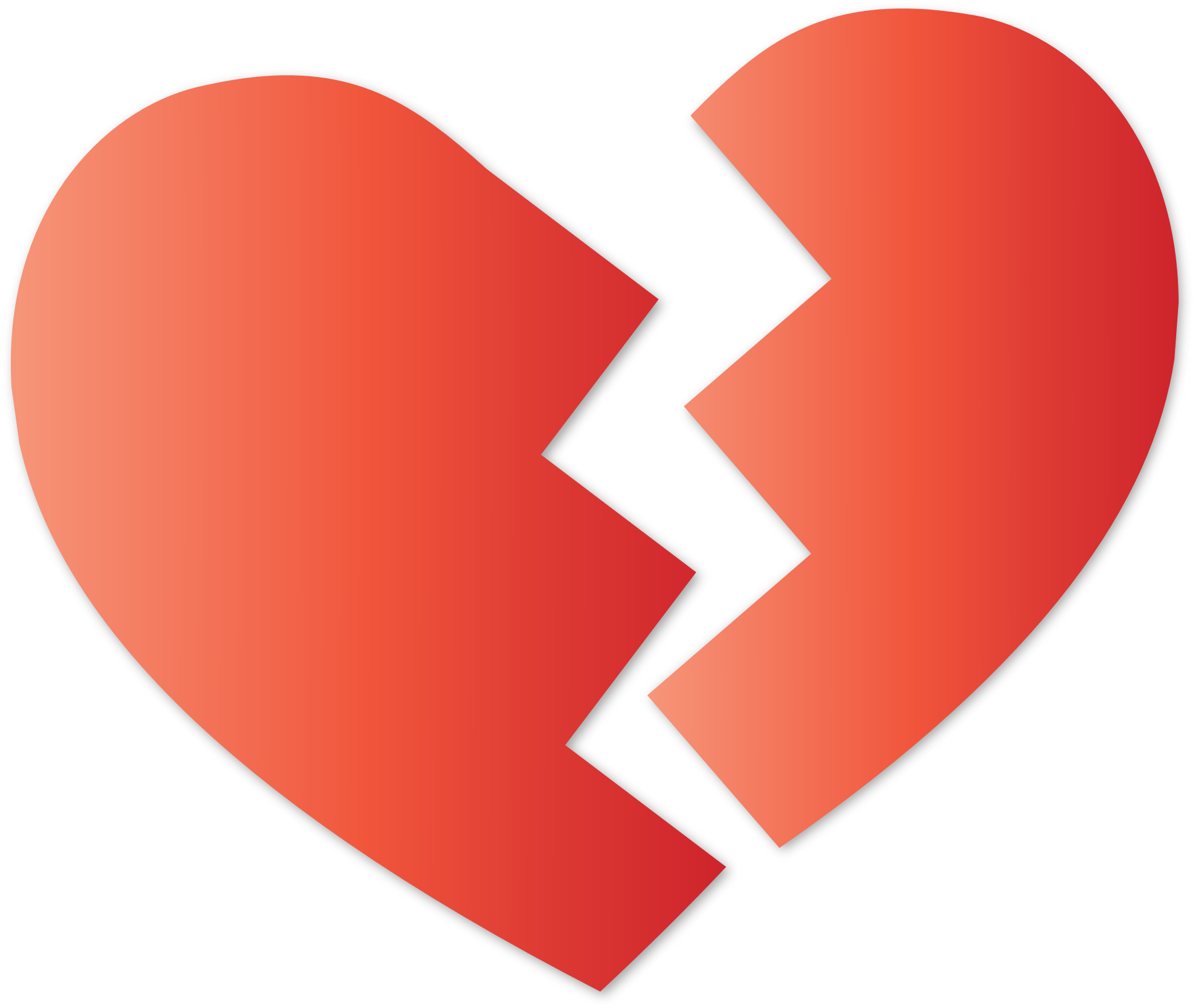 Clipart broken heart image black and white stock High quality Broken Heart Transparent Image #45709 - Free Icons and ... image black and white stock