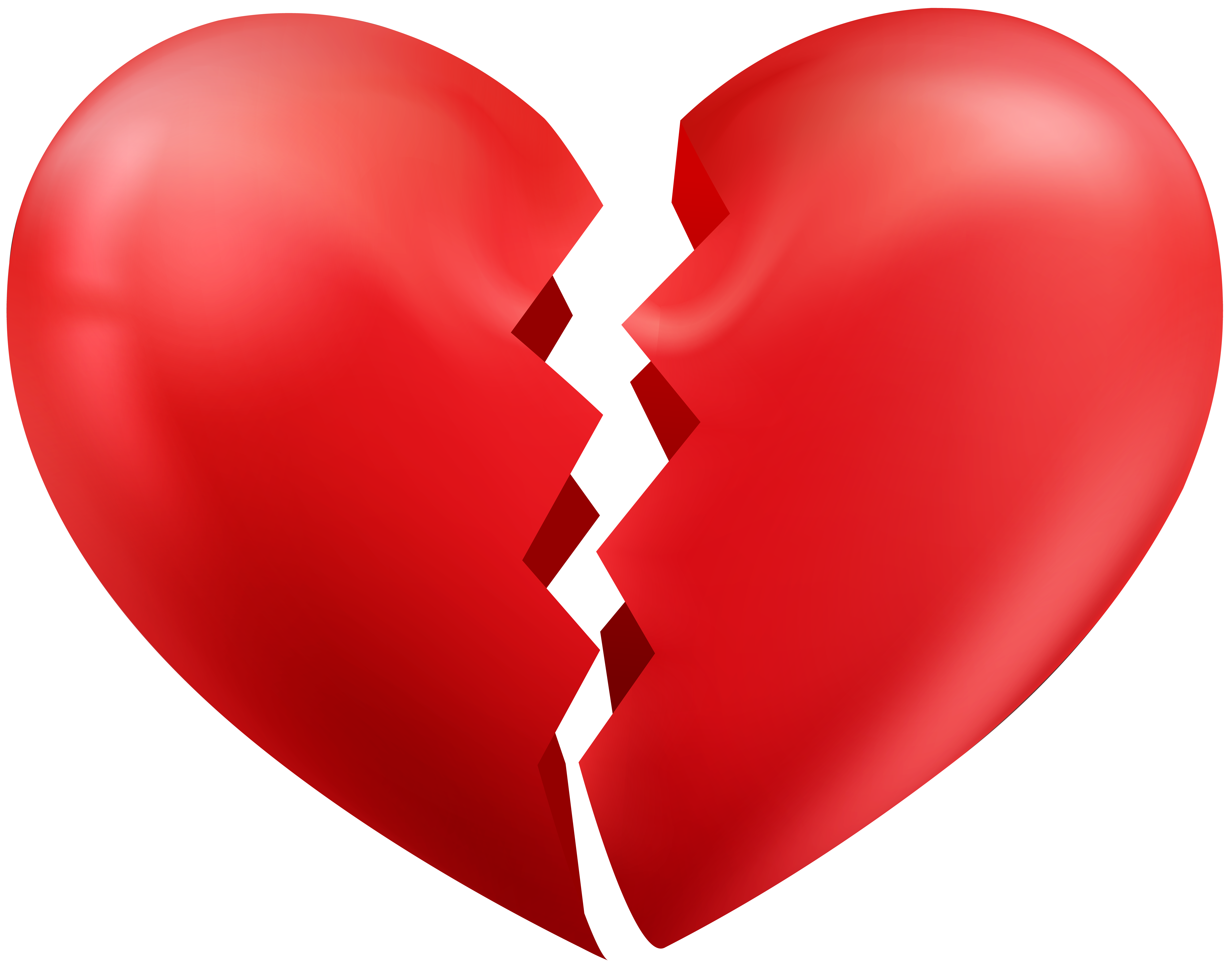 Broken heart free clipart picture royalty free Broken Heart Transparent PNG Clip Art Image | Gallery Yopriceville ... picture royalty free