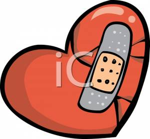 Broken heart with bandage clipart graphic free library A Broken Heart With A Bandage On It - Royalty Free Clipart Picture graphic free library