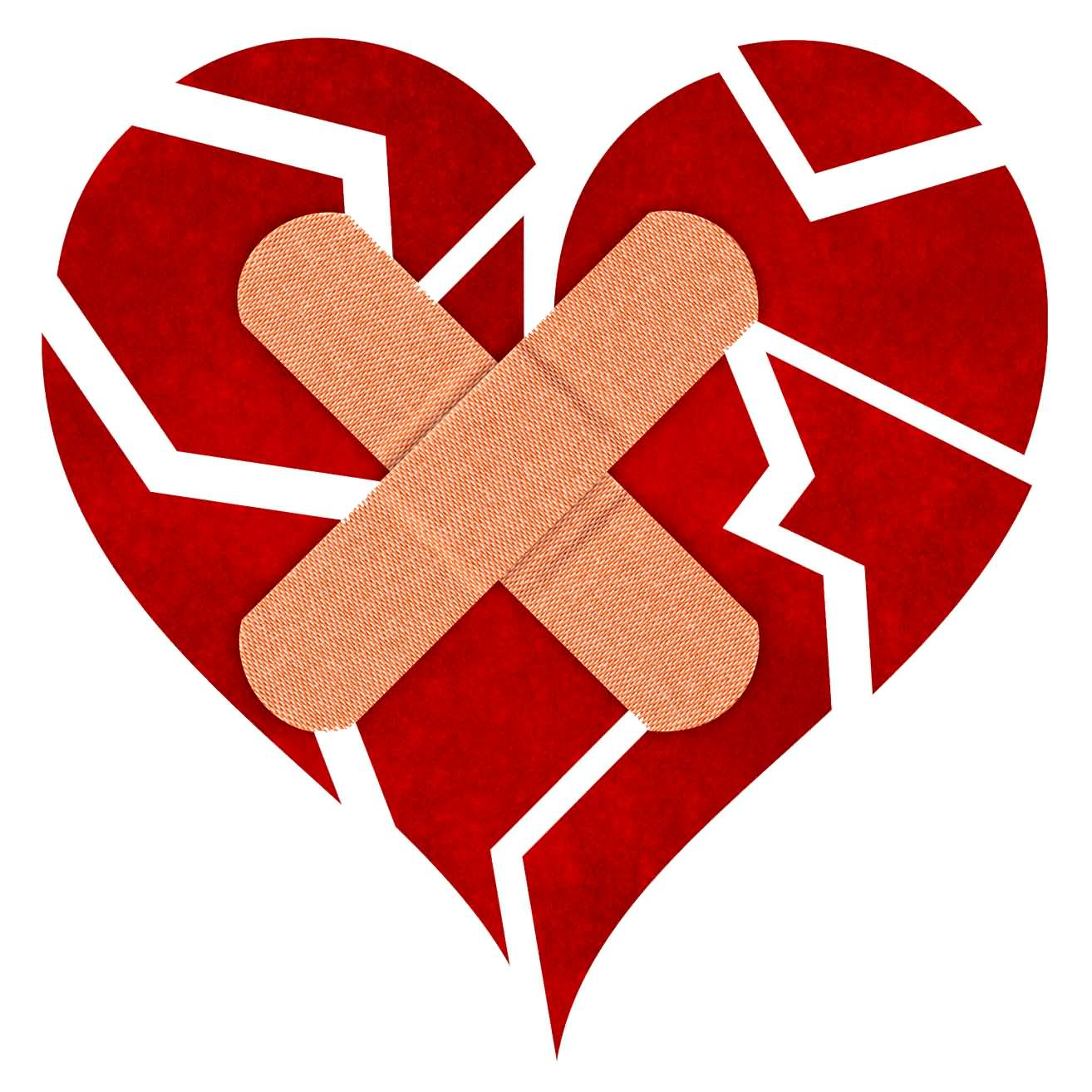 Broken heart with bandage clipart jpg free download 55 Best Broken Heart Pictures And Images jpg free download