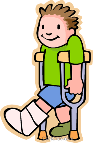 Broken leg cast clipart with clear background vector freeuse boy with broken leg Royalty Free Vector Clip Art illustration ... vector freeuse