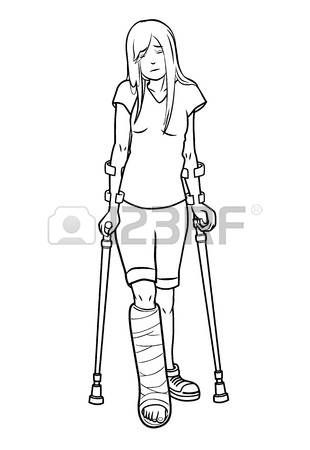 Broken leg rehab clipart graphic transparent library 475 Leg Cast Stock Illustrations, Cliparts And Royalty Free Leg ... graphic transparent library