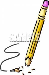 Broken pencil clipart banner library stock Broken Pencil - Royalty Free Clipart Picture banner library stock