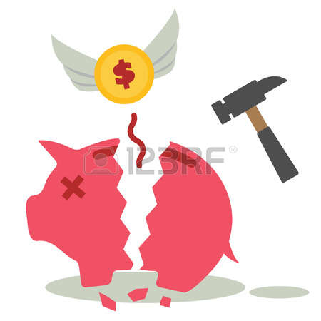 Broken Piggy Bank Stock Photos Images. Royalty Free Broken Piggy ... image free library