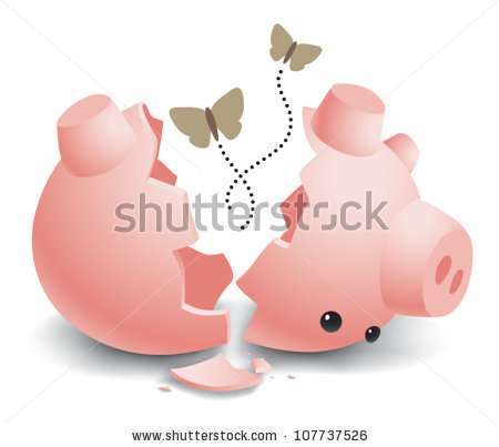 Broken piggy bank clipart jpg transparent download Broken Piggy Bank Stock Images, Royalty-Free Images & Vectors ... jpg transparent download
