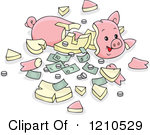 Royalty-Free (RF) Broken Piggy Bank Clipart, Illustrations, Vector ... image transparent stock