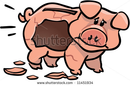 Broken piggy bank clipart father free - ClipartFest jpg stock