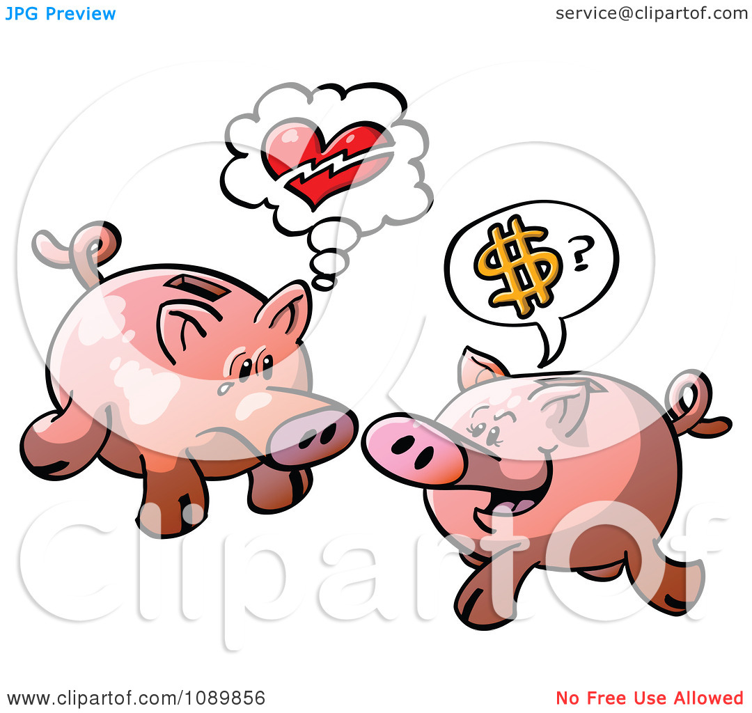 Broken piggy bank clipart - ClipartFest image free stock