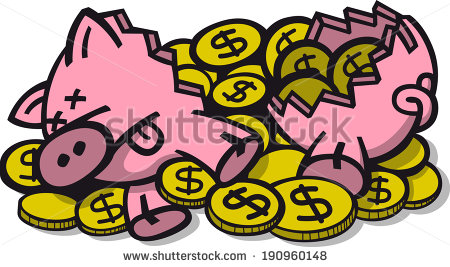 Broken Piggy Bank Clipart | Clipart Panda - Free Clipart Images black and white