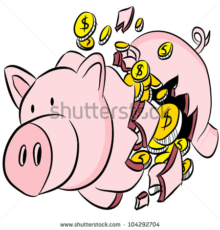 Broken piggy bank clipart father jpg transparent Piggy Bank Clip Art Stock Photos, Royalty-Free Images & Vectors ... jpg transparent