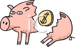 Broken piggy bank clipart father free vector royalty free Broken piggy bank clipart father free - ClipartFest vector royalty free
