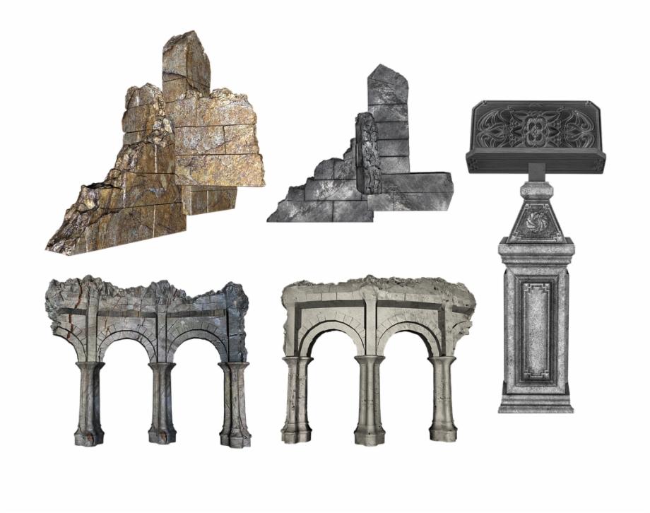 Broken temple clipart svg black and white download Ruins Broken Destroyed Building Temple Castle - Pyramid Free PNG ... svg black and white download