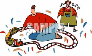 Broken toy clipart image transparent library A Father Fixing a Crying Son\'s Broken Toy Train Clipart Picture image transparent library