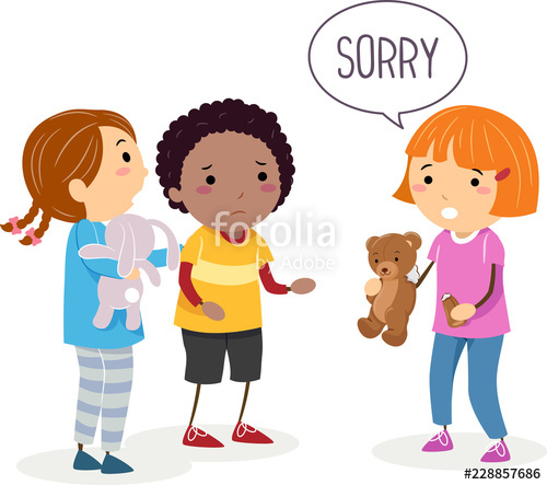 Broken toy clipart png free library Stickman Kids Broken Toy Sorry Illustration\
