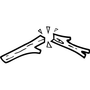 Broken wood clipart clip art transparent download Black and White Broken Wooden Stick clipart, cliparts of Black and ... clip art transparent download