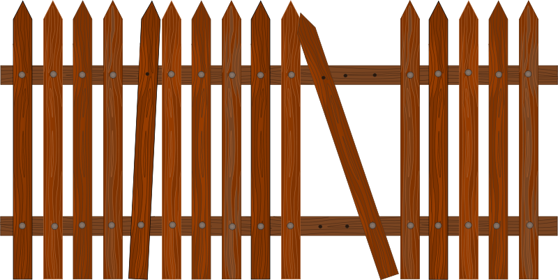 Broken wood clipart banner royalty free stock Free Clipart: Broken picket fence | jarda banner royalty free stock