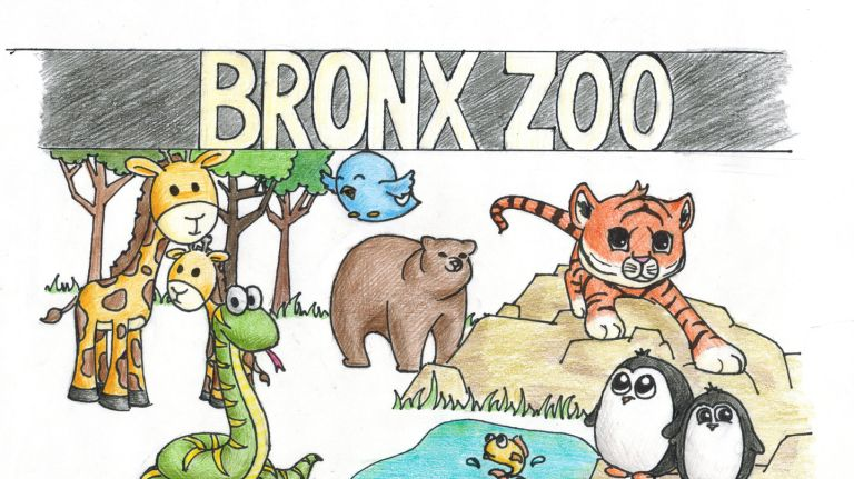 Bronx zoo clipart png black and white At the Bronx Zoo: Penguins and tigers and bears — and more! | Newsday png black and white