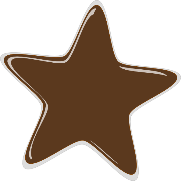 Brown star clipart clipart transparent stock Bronze Star Clip Art at Clker.com - vector clip art online, royalty ... clipart transparent stock