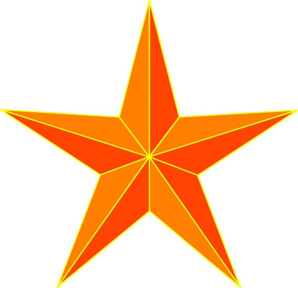Northern star clipart svg freeuse download Orange Star Clip Art at Clker.com - vector clip art online, royalty ... svg freeuse download