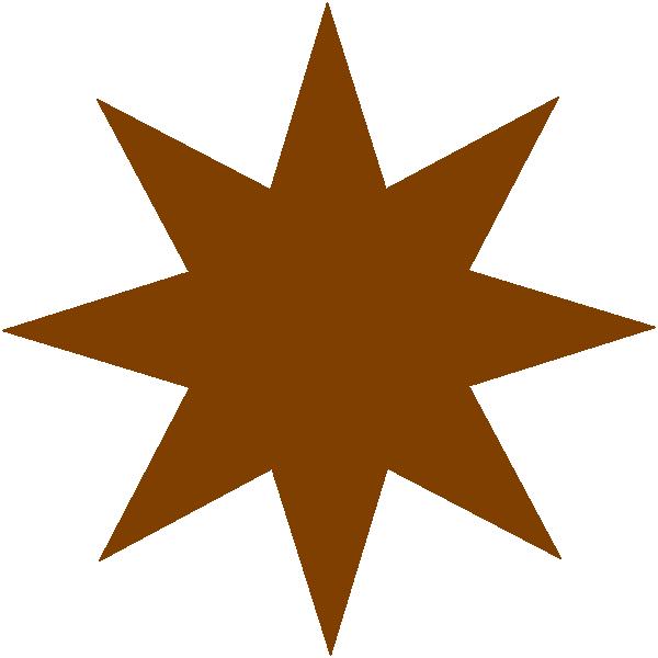 Brown star clipart clip freeuse Bronze Star Clip Art at Clker.com - vector clip art online, royalty ... clip freeuse