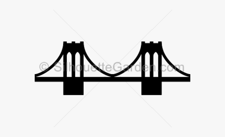 Brooklyn bridge clipart png library library Rope Bridge Clipart Cartoon - Brooklyn Bridge Silhouette Clip Art ... png library library