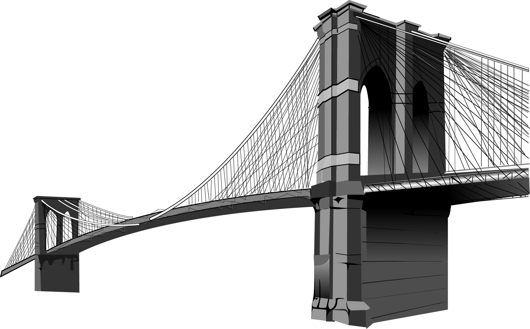 Brooklyn bridge clipart png library library Brooklyn Bridge Clip art - Vector Bridge png download - 1841*1141 ... png library library