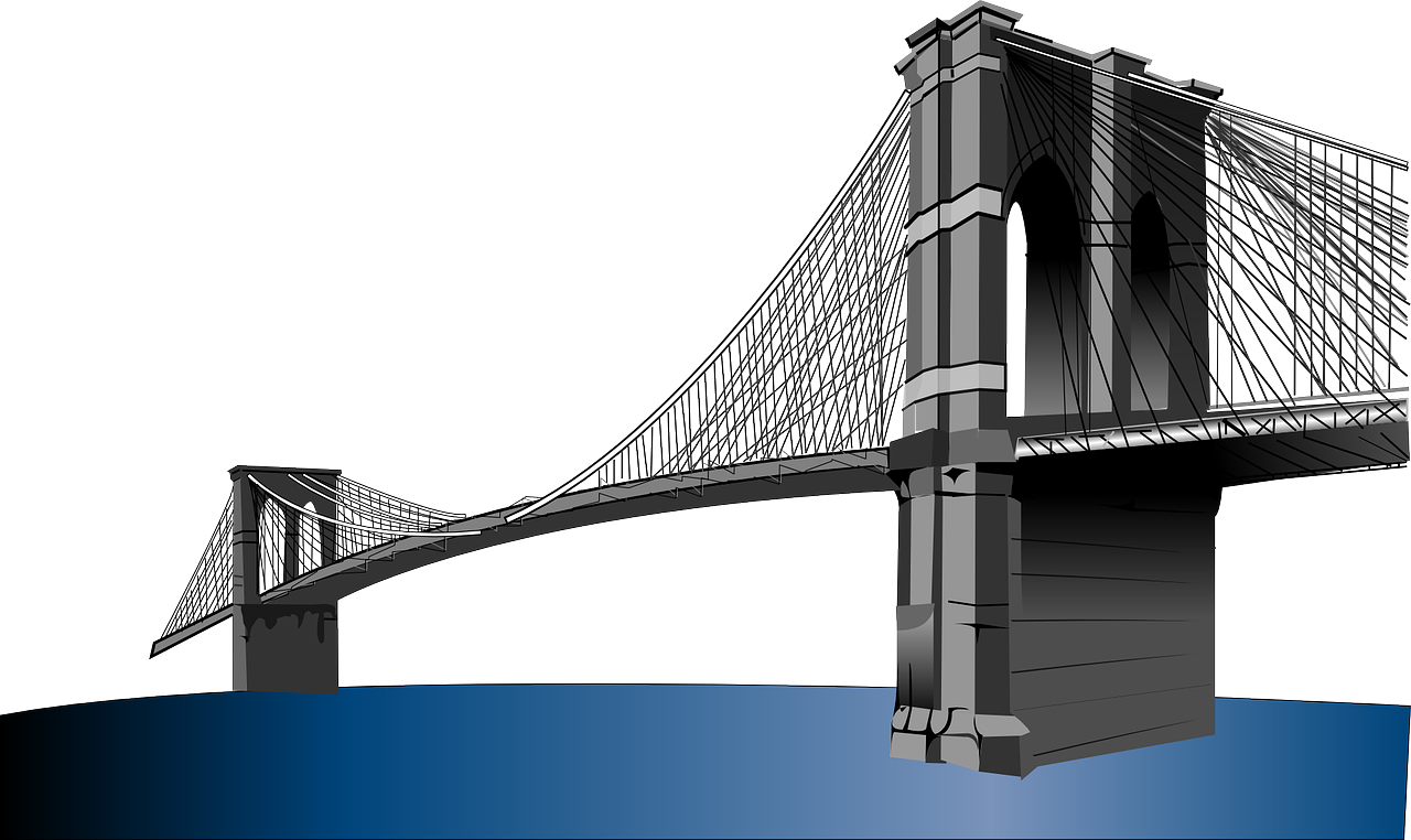 Brooklyn bridge clipart vector library library Brooklyn Bridge Clip art - Magnificent Bridge png download - 1280 ... vector library library