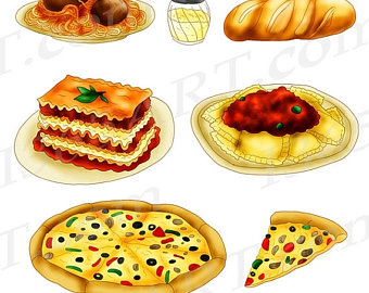 Brot backen clipart vector stock Italian clip art | Etsy vector stock