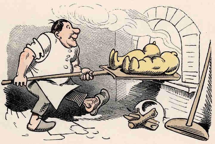 Brot backen clipart image Max und Moritz - by Wilhelm Busch image