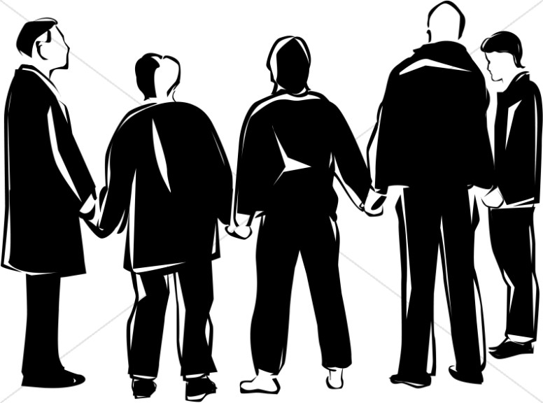 Brothers praying together clipart black and white banner library library Prayer Group in Black and White | Prayer Clipart banner library library