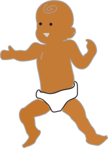 Brown baby clipart png black and white Brown Baby PNG, SVG Clip art for Web - Download Clip Art, PNG Icon Arts png black and white
