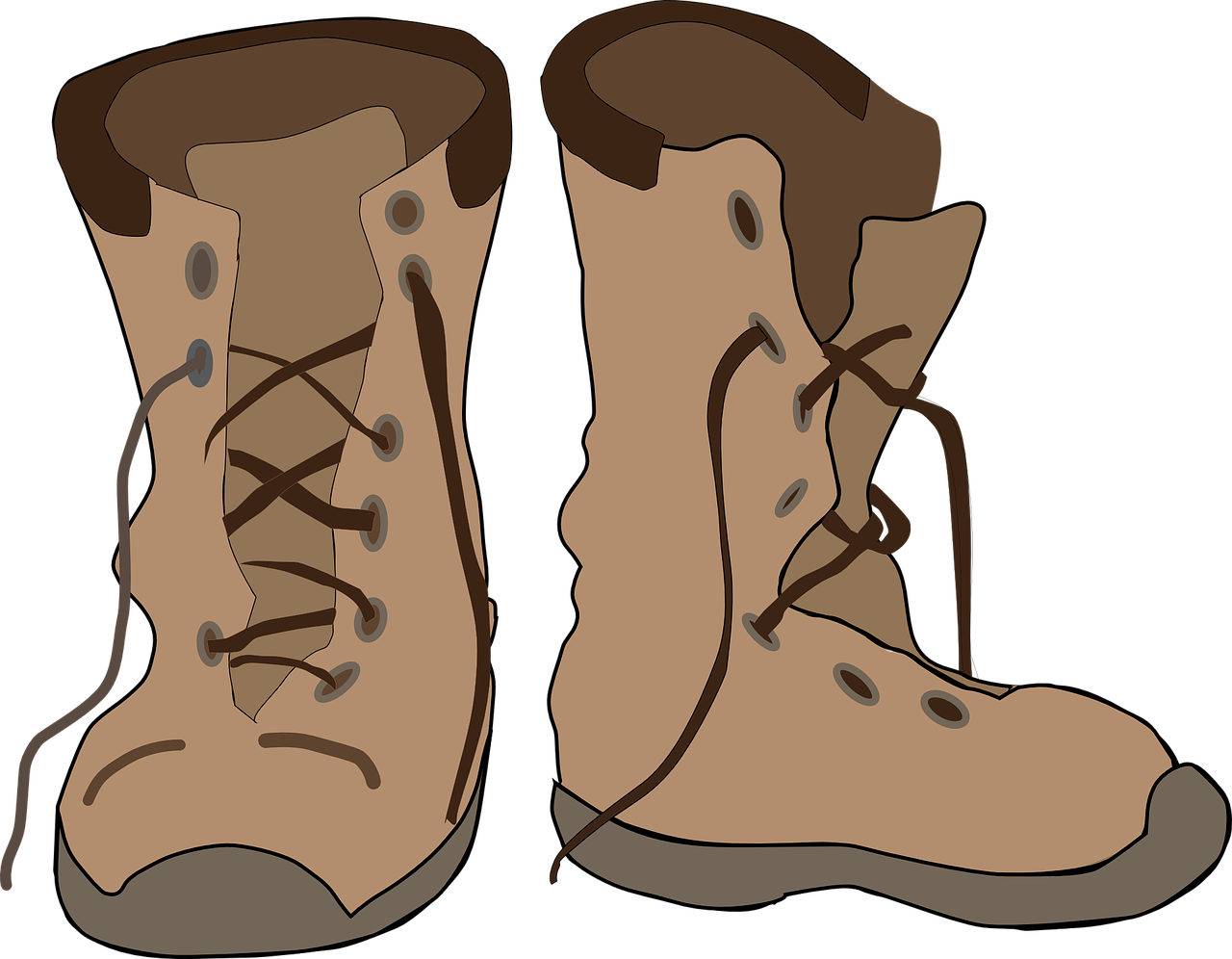 Leather boots clipart