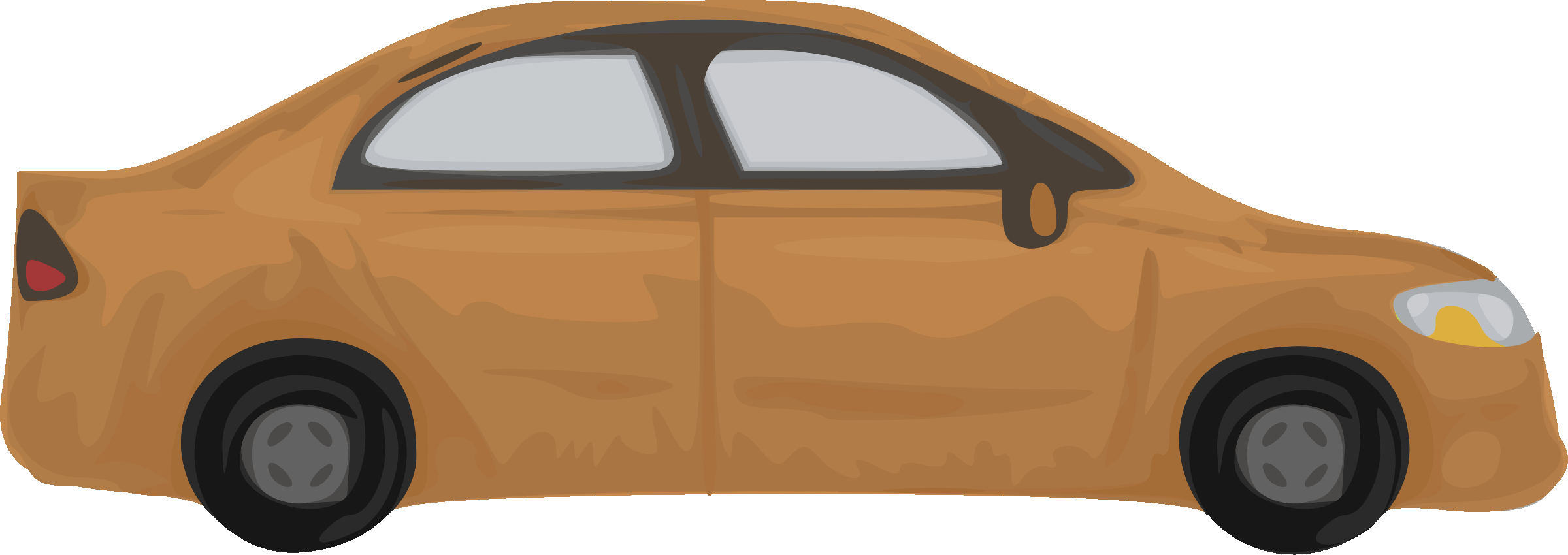 Brown car clipart png freeuse library Clipart - Rough car (brown) png freeuse library